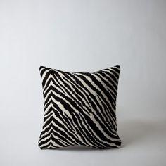 "Mjölk : Aalto Zebra pillow 15.7""x15.7"" / 40x40cm black and white pillow w pillow insert - 575020"