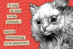 Dullor Psychotic  Magnet by franticmeerkat on Etsy