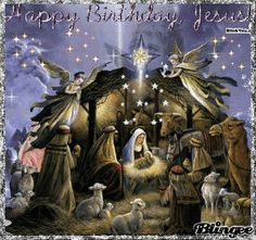Gifs, images and effects: Jesus -anjos-religion Christmas Night, Christmas Scenes, Christmas Nativity, Noel Christmas, Christmas Images, Vintage Christmas, Animated Christmas Pictures, Merry Christmas Jesus, Gif Noel