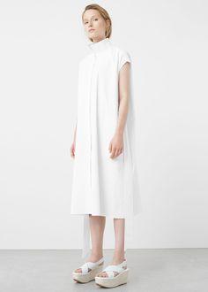 Premium - vestido camisero popelín | MANGO