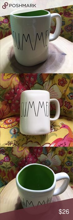 Rae Dunn Summer Mug Colored Rae Dunn Summer Mug Big letter Colored No chips or cracks Green inside  Ships same or next day Experienced packers  Rae Dunn Big letter mugs Colored  Farmhouse chic Mother's Day Graduation  Beach  Vacation house  Lake house Hospitality  Travel agent Rae Dunn Other