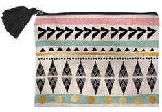 Bohemian Canvas Zip Bag
