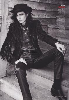 Moda| Serafini Amelia| Best Western // photographed by Kurt Markus for Marie Claire USA, August 2014
