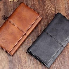 Handmade Leather Mens Cool Long Leather Wallet Bifold Clutch Wallet for Men Cheap Purses, Cute Purses, Purses For Sale, Suede Handbags, Handbags On Sale, Purses And Handbags, Popular Purses, Wholesale Purses, Purse Styles