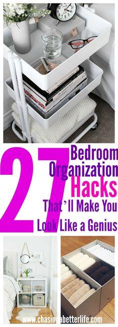 27 Bedroom Organization Hacks That'll Make You Look Like a Genius
