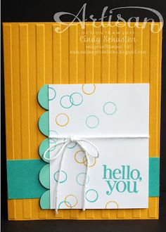 Cindy Schuster created the circles on this card by using the caps on her Stampin' Write Markers! Genius!