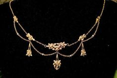 A french  vintage romantic floral necklace around 1920 Holly's Dress?