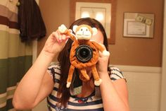"""Alicia Schuette Photography & Conversions -- Best investment ever, a $20 """"shutter hugger"""" from Amazon! Comes in tons of other animals, and the kids love it! His name is Mr. Monkey and he likes to wave at kids! ;; Click the Photo to Like us on Facebook!!"""