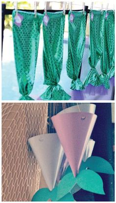 Mermaid party favors tails diy WonderBash under the sea