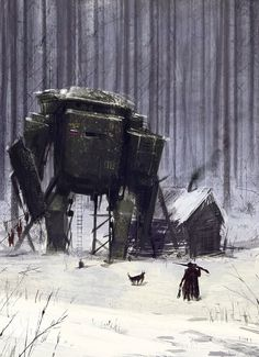 Amazing oil paintings of 1920 soviet mechs by Jakub Rozalski - Imgur