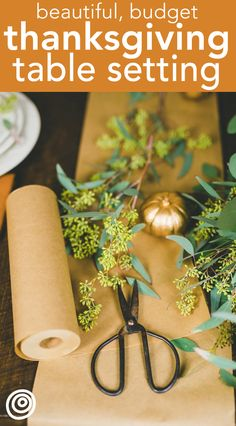 Push Your Pennies: How to Set a Beautiful Thanksgiving Table on a Budget. It's one thing to do t Thanksgiving Table Centerpieces, Thanksgiving Table Settings, Thanksgiving Tablescapes, Party Table Decorations, Best Thanksgiving Recipes, Hosting Thanksgiving, Thanksgiving Parties, How To Memorize Things, Things To Sell
