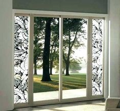 Etched tropical window and sliding glass door film delivers and easy and affordable way to add a touch of paradise to your home. Tropical Window Film, Tropical Windows, Sidelight Windows, Windows And Doors, Etched Glass Windows, Sliding Glass Door, Glass Doors, Picture Table, Film World