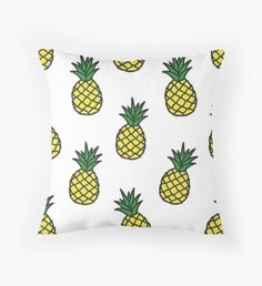 """Pinapple Emoji"" Throw Pillows by braeprint Throw Pillows Bed, Bed Throws, Floor Pillows, Decorative Throw Pillows, Pineapple Room Decor, Big Girl Rooms, Mermaid Blanket, Craft Stick Crafts, My New Room"