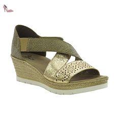 RIEKER Rieker Womens Shoe 61976 Gold 39 - Chaussures rieker (*Partner-Link)