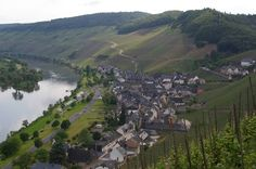 Mosel, Germany. One of my favorite wine regions, and exquisitely beautiful.