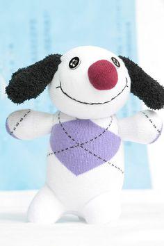 T12 Stuffed dog  toy  Handmade stuffed animal toys by Toyapartment, $10.50