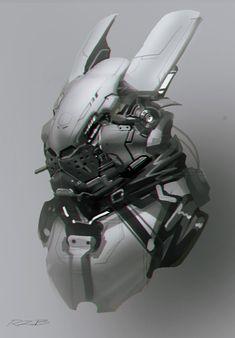concept design robot rabbit, Robin Ruan on ArtStation at https://www.artstation.com/artwork/ePwPJ