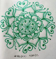#48 - Sketchbook : 100 Mandalas Challenge Week 7 - KitsKorner.Com
