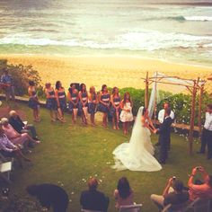 Wedding ideas- beach without dealing with the sand!