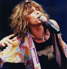 """Steven Tyler, frontman and lead vocals of Boston-based rock band Aerosmith, sang """"God Bless America"""" during at the Boston RedSox opening Sunday Mia Tyler, Rock And Roll Bands, Rock Bands, Aerosmith Lyrics, Steven Tyler Aerosmith, Elevator Music, Joe Perry, The Jam Band, Movies"""