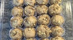 Kids will love to roll these peanut butter balls into the different coatings.