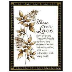 Those We Love Rubber Stamp