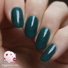 Gothic Gala Lacquers S.F. Take 2 - #greenpolish #nails #nailpolish #glittergreen #piggieluv - bellashoot.com