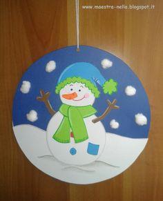 Maestra nella addobbi invernali lavoretti per bambini for Addobbi natalizi per finestre scuola primaria