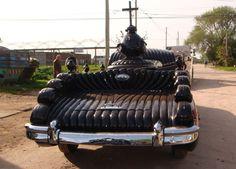 Argentine funeral car restored