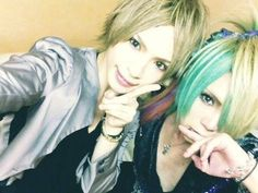 Kazuki(ex Royz) and v[NEU ]'s Mitsu. Visual Kei, Dreadlocks, Hair Styles, Fictional Characters, Beauty, Beleza, Dreads, Hair Looks, Cosmetology
