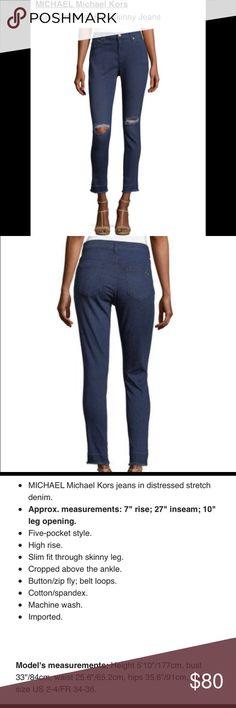 Michael Kors Undone-Hem Distressed Denim. Michael Kors Slash Undone-Hem Skinny Jeans. Cotton/Spandex, Machine washable MICHAEL Michael Kors Jeans