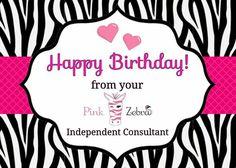 Pink Zebra Party, Pink Zebra Sprinkles, Birthday Club, Happy Birthday, Pink Zebra Consultant, Happy Mail, Zebras, Scentsy