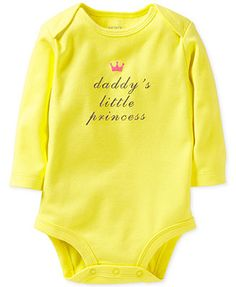 Carter's Baby Girls' Slogan Bodysuit