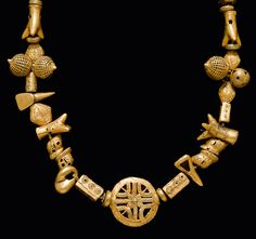 Africa | Necklace from the Asante people of Ghana. | Gold alloy | 4,080CHF ~ sold (June/12)