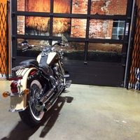 2014 Harley Davidson Softail Deluxe FLSTN - sand pearl / canyon brown
