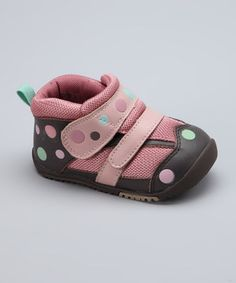 These sneaks help protect against rough and unsanitary surfaces while promoting healthy development for little feet. The adjustable straps keep them secure, so there's less concentration on slipping and more on giggling, and the removable insole comes out quickly for easy cleaning.