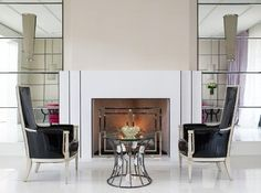 Looking for Art Deco Living Space ideas? Browse Art Deco Living Space images for decor, layout, furniture, and storage inspiration from HGTV. Living At Home, Living Room Modern, Living Room Designs, Living Spaces, Living Rooms, Small Living, What Is Art Deco, Deco Miami, Granite Fireplace