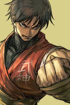 Guy by Hankuri Manga Anime, Manga Art, Fantasy Character Design, Character Art, Ryu Street Fighter, Street Fighter Characters, Anime Poses Reference, Fight Night, King Of Fighters