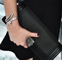 Chanel Boy clutch, Chanel fine jewellry