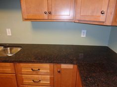 Eased Edge, Granite, Heyworth IL, Sink, Tan Brown Granite Countertops  Projects Installed January 2016 By AMF Brothers
