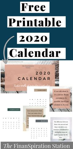 This stylish printable 2020 calendar will provide you with twelve months of motivation & inspiration. It was created especially for personal development junkies and entrepreneurs. Effective Time Management, Good Time Management, Monthly Quotes, Business Calendar, Manifestation Journal, Journal Quotes, Make More Money, How To Feel Beautiful, Motivation Inspiration