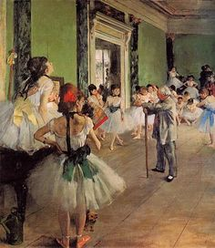 The Dance Class, Edgar Degas, 1873-1876, oil on canvas