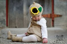 Sunflower Pixie Hat by KissedbytheMoonB on Etsy