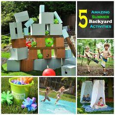 Creative Mama on a Dime: 5 Amazing Summer Backyard Activities!