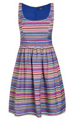 City Chic - MULTI STRIPE DRESS - Women's Plus Size Fashion