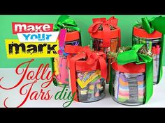 Jolly Jars: Last Minute $5 Gifts DIY gifts for kam, make them themed for halloween, vaentines, etc.