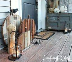 Wooden pumpkins - ideas for Kara