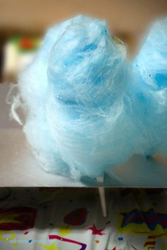 BLUE cotton candy!