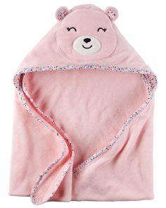 Baby Girl Little Bear Hooded Towel | Carters.com
