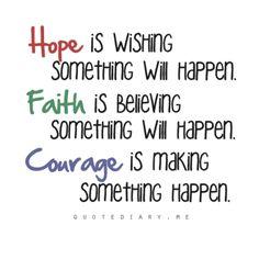 Hope, Faith, Courage